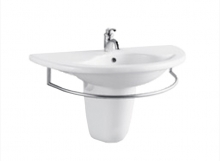 Wall Hung Basin With Half Pedestal